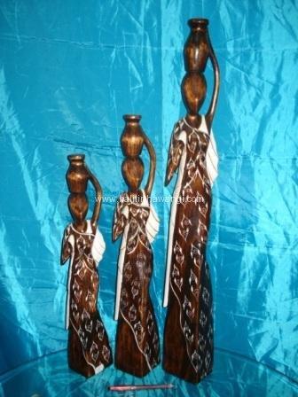 African Statue color set<br>TW0296