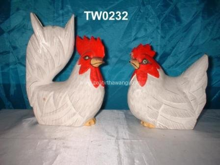 Rooster and Chicken color<br>TW0232