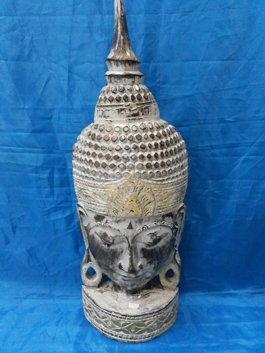 Budha Head with stand color<br>TW0417