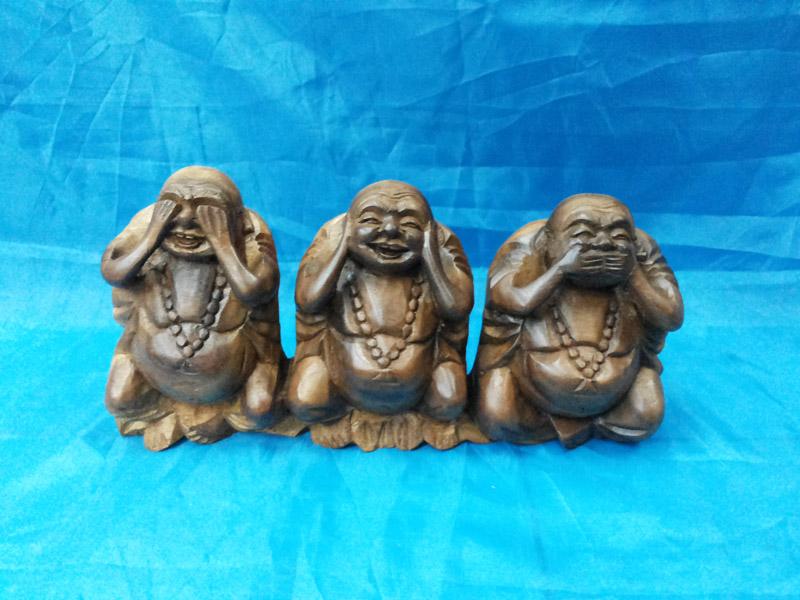 Three wise Happy Budha<br>TW0474