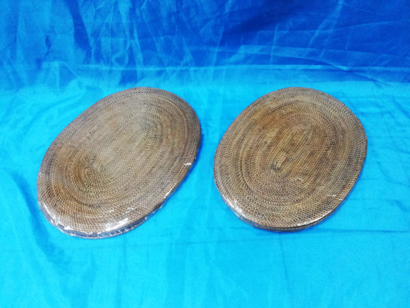 Placemate Rattan Set 4 - Oval (Smooth)<br>TW0489