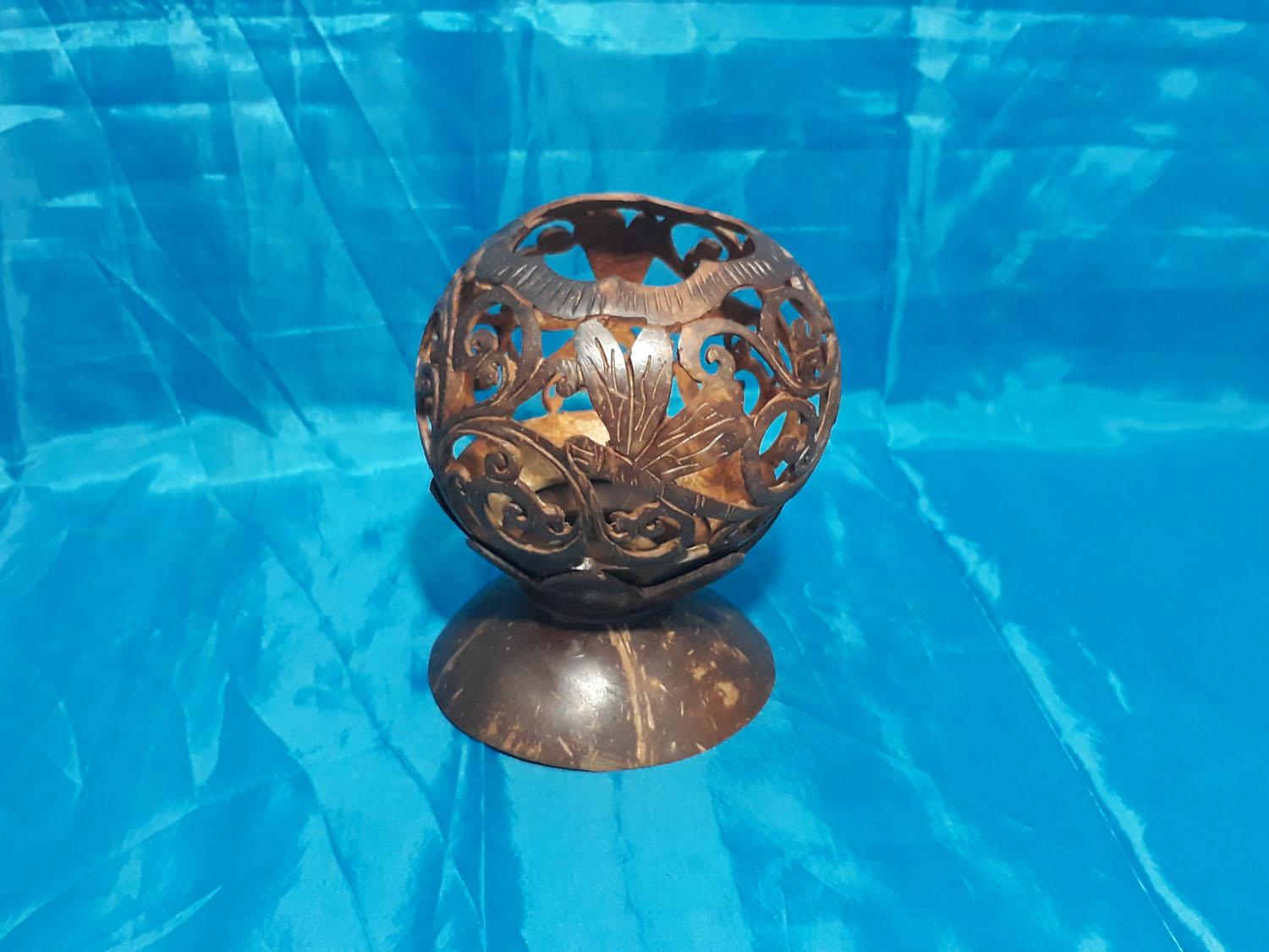 Candle Holder - Coconut Carving<br>TW0502