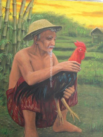 Old Man with Chiken<br>MR072